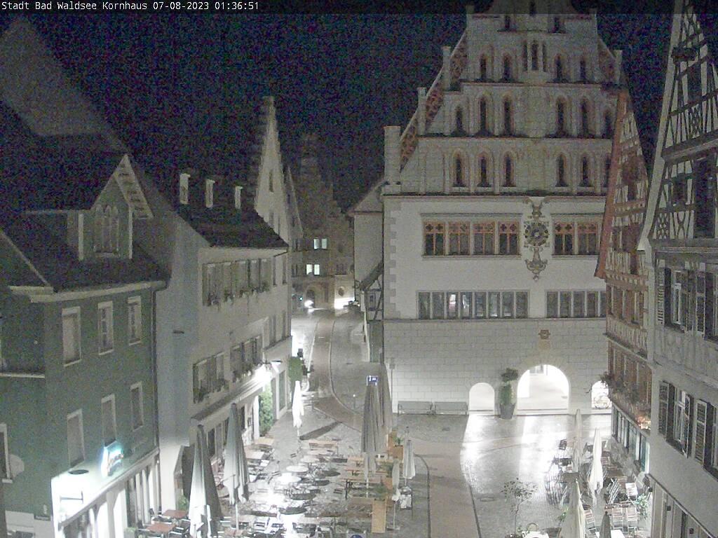 Bad Waldsee - Blick vom Kornhaus in die Innenstadt